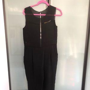 Black Rachael Roy mech detail jumpsuit